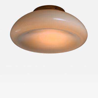 Idman Oy Idman Large round concave ceiling lamp Finnish 1940s