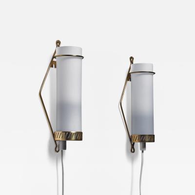 Idman Oy Maria Lindeman pair of wall lamps for Idman Finland 1950s