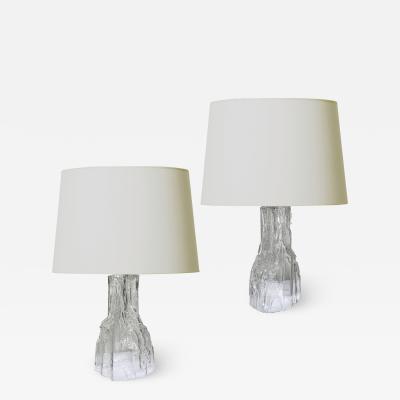 Iittala Pair of Rustically Textured Table Lamps by Iittala
