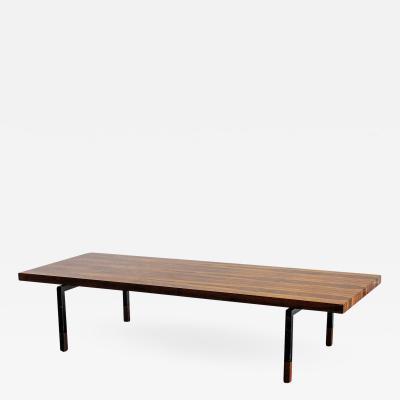 Illums Bolighus Danish Rosewood and Steel Coffee Table by Illums Bolighus