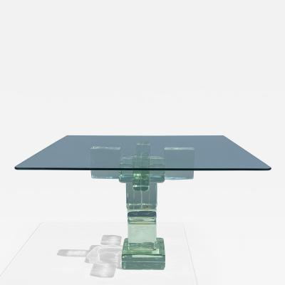 Imperial Imagineering Glass Block Side End Table