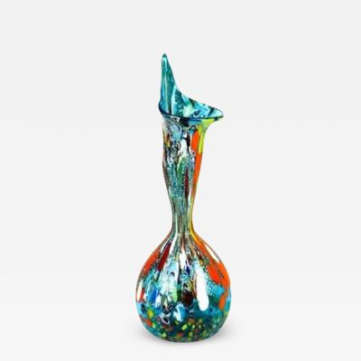 Imperio Rossi Murano Imperio Rossi Murano Aqua Calla Murrina Fantasy Aquamarine Vase Glass