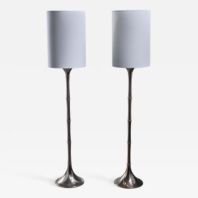 Ingo Maurer Ingo Maurer Pair of Brass Bamboo Floor Lamps