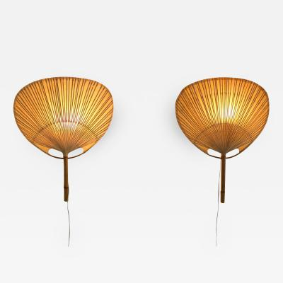 Ingo Maurer Ingo Maurer Uchiwa Pair of Sconces 1970s