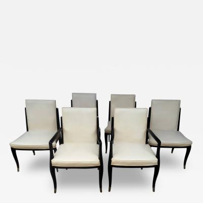 Interiors Crafts A Set of Six Art Deco Revival Chairs by Interiors Crafts