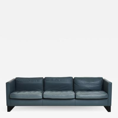 Interiors Crafts Blue Leather Sofa Ludwig Mies van der Rohe 1980