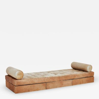 Interiors Crafts Custom Leather Daybed with Storage for Skidmore Ownings and Merrill 1968