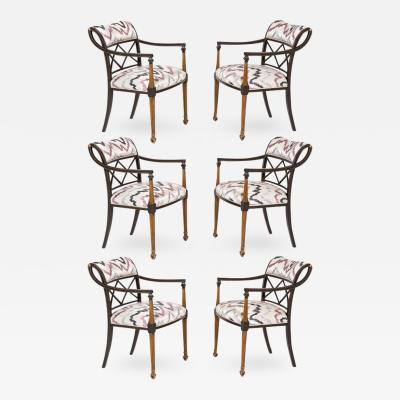 Interiors Crafts Set of Six Regency Style Armchairs by Interior Crafts Chicago