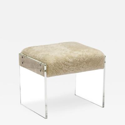 Interlude Home Aiden Shearling Stool
