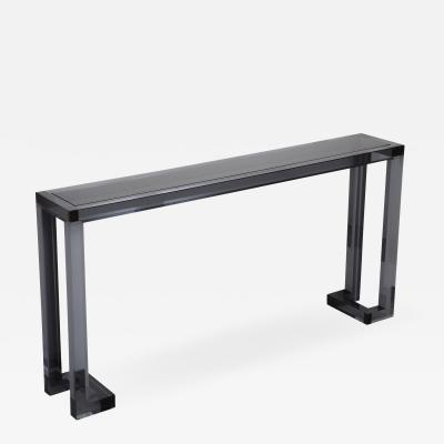 Interlude Home Ava Sofa Table Smoke