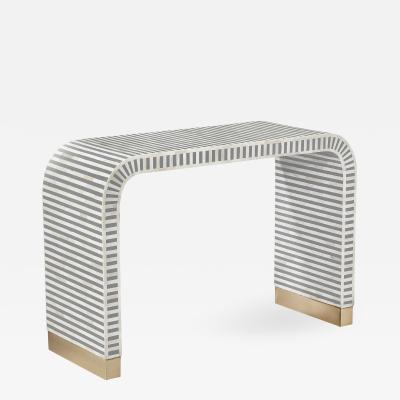 Interlude Home Beacon Console Table Grey