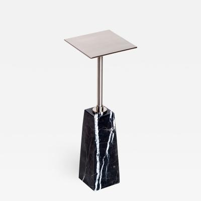 Interlude Home Beck Square Drink Table Black Nickel