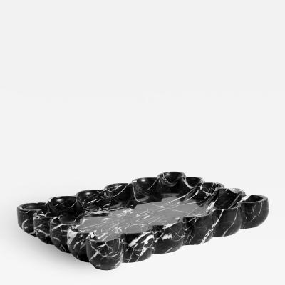 Interlude Home Bliss Scalloped Tray Black