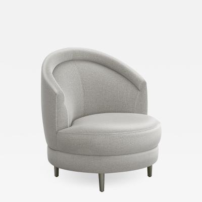 Interlude Home Capri Swivel Chair Grey