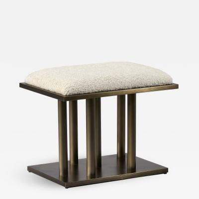 Interlude Home Celeste Stool Bronze