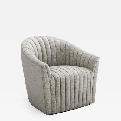 Interlude Home Channel Swivel Chair Feather