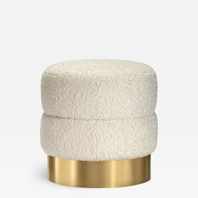 Interlude Home Charlize Stool Boucle Brass