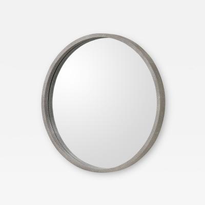 Interlude Home Como Mirror Grey Shagreen