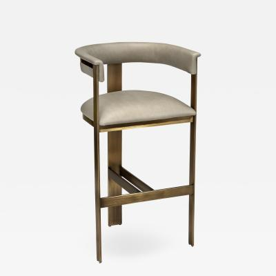 Interlude Home Darcy Bar Stool Taupe