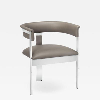 Interlude Home Darcy Dining Chair Grey Nickel