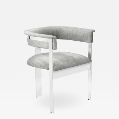 Interlude Home Darcy Hide Chair Nickel