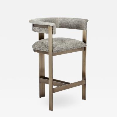 Interlude Home Darcy Hide Counter Stool Bronze