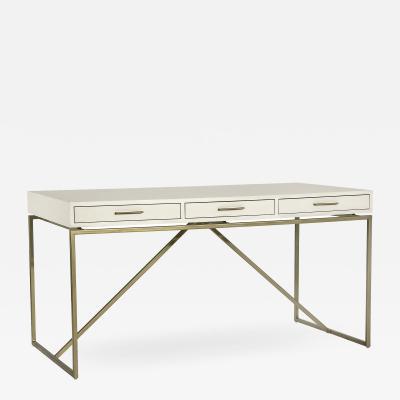 Interlude Home Emmet Snakeskin Desk White