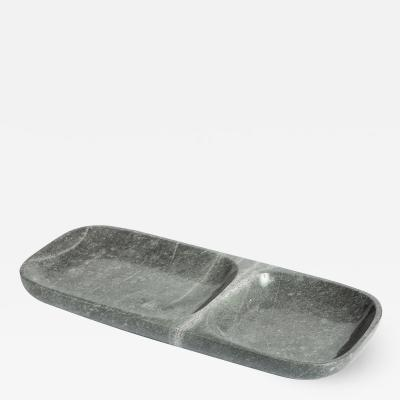 Interlude Home Harlow Dual Section Tray Grey