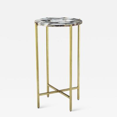 Interlude Home Leonie Round Drink Table Grey