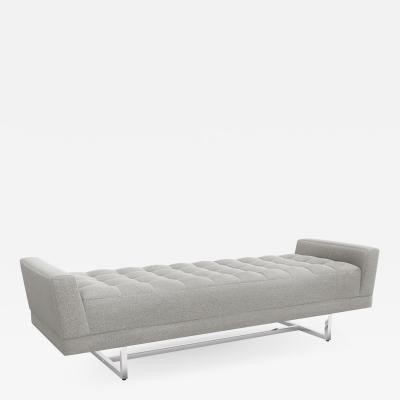 Interlude Home Luca King Bench Grey