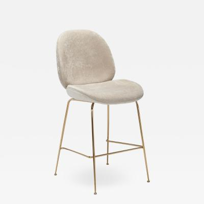 Interlude Home Luna Counter Stool Beige Latte