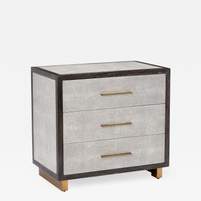 Interlude Home Maia Bedside Chest Grey
