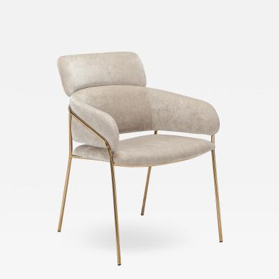 Interlude Home Marino Chair Beige Latte