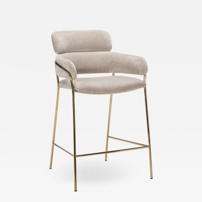 Interlude Home Marino Counter Stool Beige Latte
