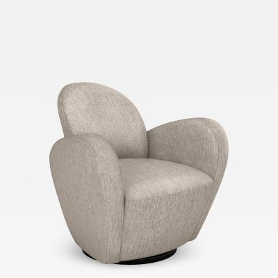Interlude Home Miami Swivel Chair Bungalow