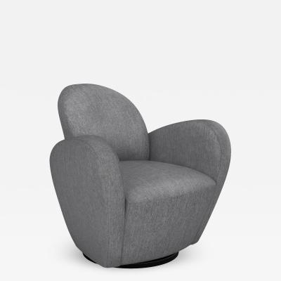 Interlude Home Miami Swivel Chair Night