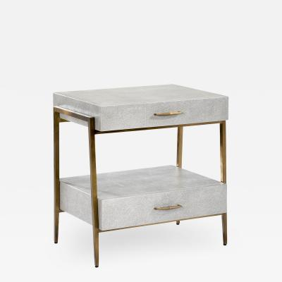 Interlude Home Morand Bedside Chest Grey