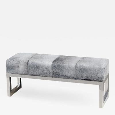 Interlude Home Moro Hide Bench