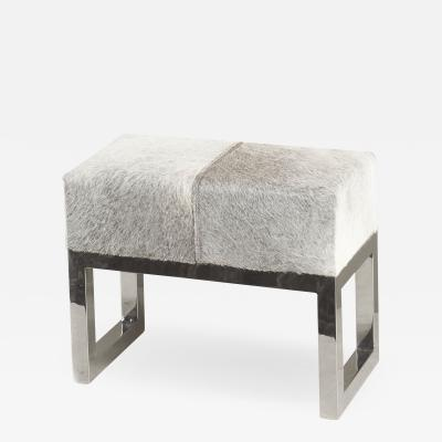 Interlude Home Moro Hide Stool