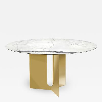 Interlude Home Pierre Dining Table Brass
