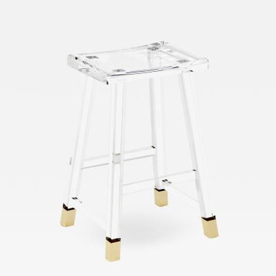 Interlude Home Reva Counter Stool Brass