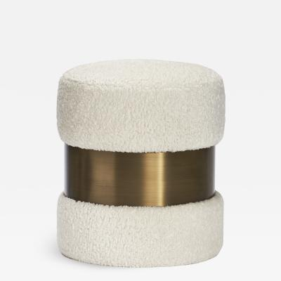 Interlude Home Scarlett Stool Boucle Bronze