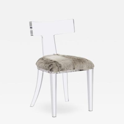 Interlude Home Tristan Acrylic Klismos Chair Grey Goat