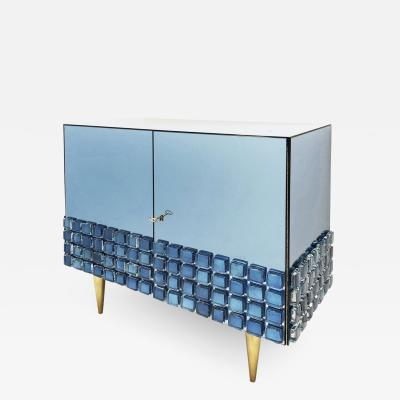 Interno 43 Blue Glass Cabinet by Interno 43 for Gaspare Asaro