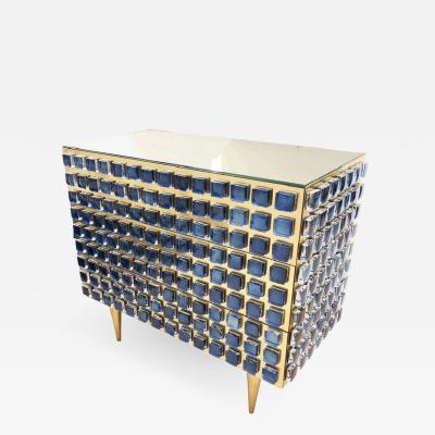 Interno 43 Glass and Brass Chest Cabinet by Interno 43 for Gaspare Asaro