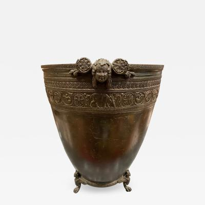 J Chiurazzi Fils Neoclassical grand tour bronze vessel by J Chiurazzi Fils