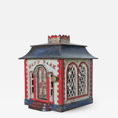 J E Stevens Company Mechanical Bank Home Bank without Dormers circa 1872