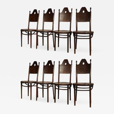 J J Kohn J J Kohn rarest neo gothic set of 8 dinning chairs