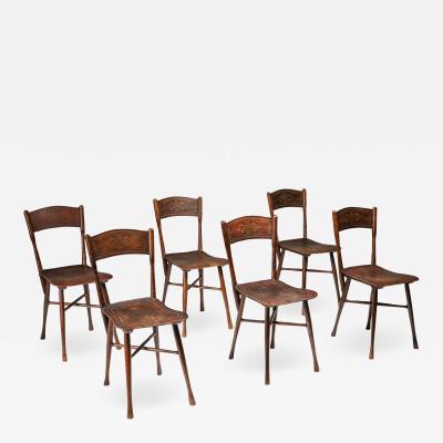 J J Kohn JJ Kohn dining chairs Austria 1900