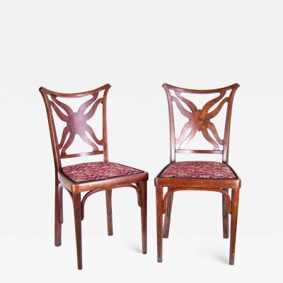 J J Kohn Pair of Unique Chairs J J Kohn 1915